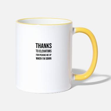 Elevator Thanks to elevators - Two-Tone Mug
