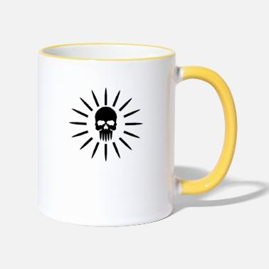 skull and bullets - Tasse zweifarbig