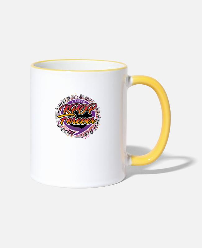 Army Mugs & Drinkware - K-Pop Forever - Two-Tone Mug white/yellow