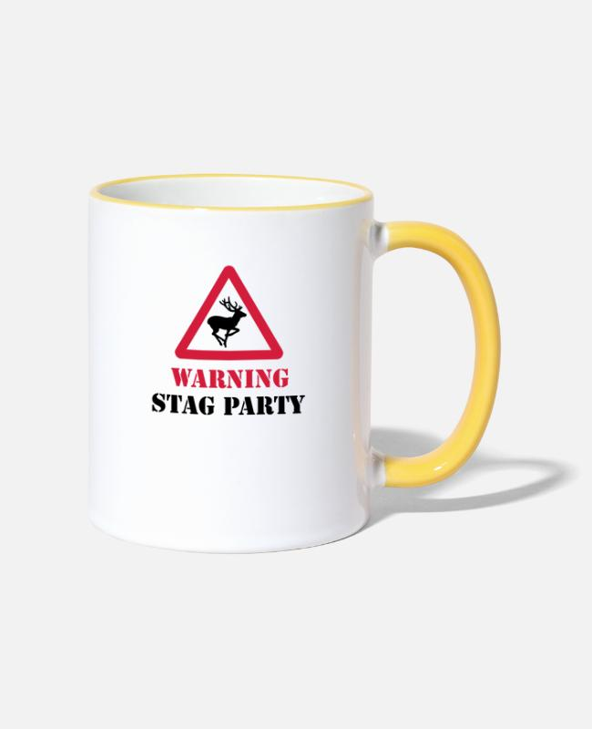Stag Mugs & Drinkware - Stag Party - Two-Tone Mug white/yellow