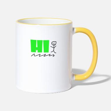 Hi design - Two-Tone Mug