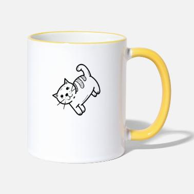 Domestic Cat domestic cat - Two-Tone Mug