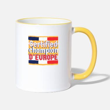 Champion Deurope champion d'europe france - Mug bicolore