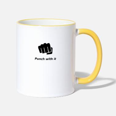 punch with it - Two-Tone Mug