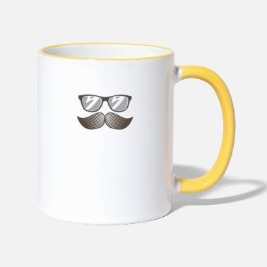 Mustasch Beard with glasses - Two-Tone Mug