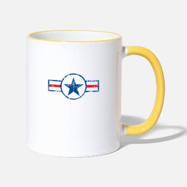 shield with star - Two-Tone Mug