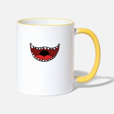 Mouth Guards Funny design with a teeth teeth mouth guard - Two-Tone Mug