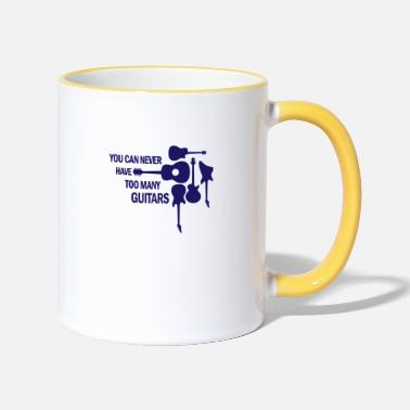 Bands You can never have too many guitars rock gift - Two-Tone Mug
