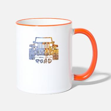 Dirt Jeep Jeep - Two-Tone Mug