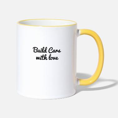 Hodetelefoner build cars with love - Two-Tone Mug