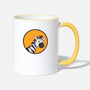 Elephant Zebra Zoo Safari - Two-Tone Mug