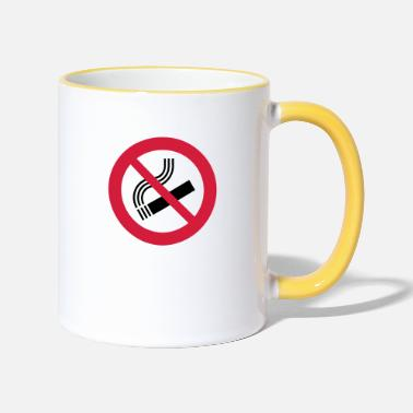 Smoking Ban Cigarette,smoking,smoking ban - Two-Tone Mug