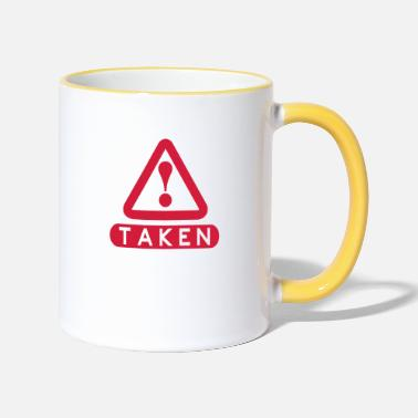 Take Taken - Tasse zweifarbig