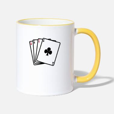 Cards poker cards - Mok tweekleurig