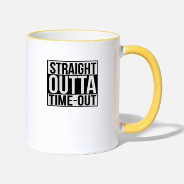 Time Out Straight outta time-out - Two-Tone Mug