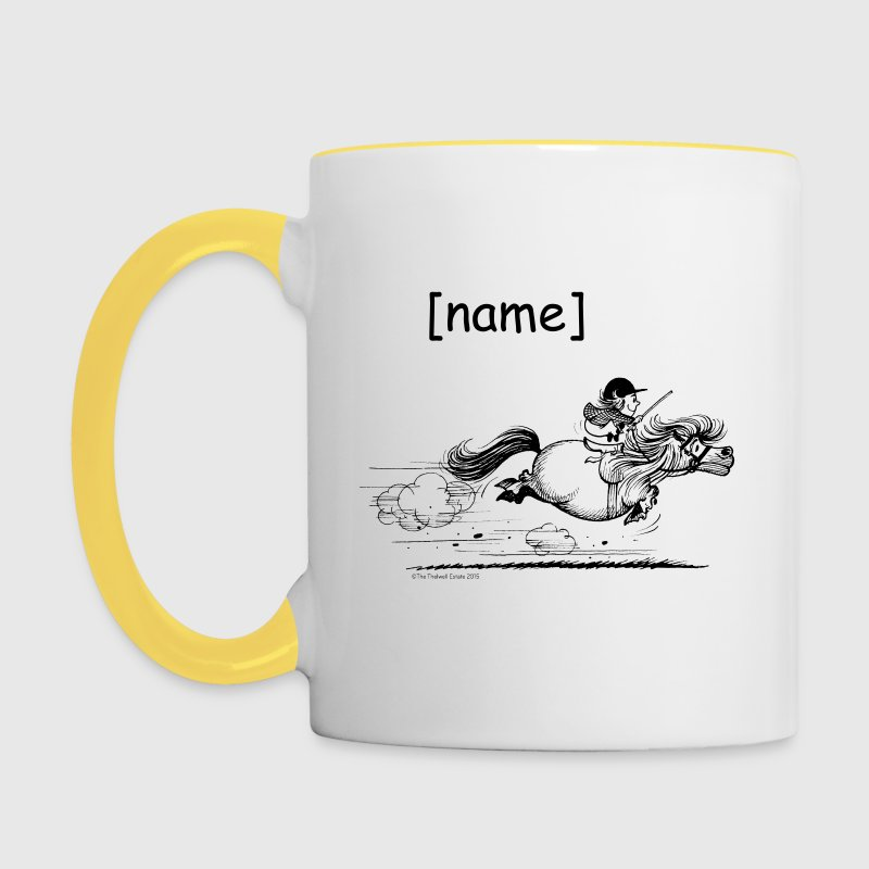 PonySprint Thelwell Cartoon - Tasse zweifarbig