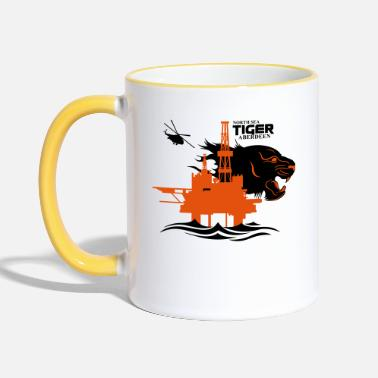 Oil Rig Platform North Sea Tiger Oil Rig Platform Aberdeen - Two-Tone Mug