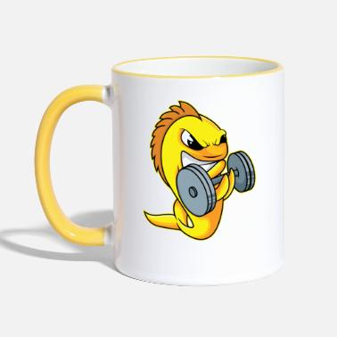 Strong Strong goldfish - design - Two-Tone Mug