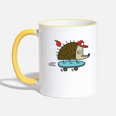 Funny Collection Skater Igel par cheslo - Mug bicolore
