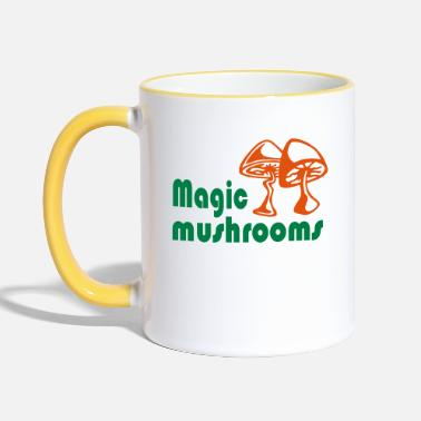 Magic Magic mushrooms - Two-Tone Mug