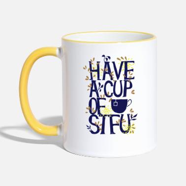 Typo Collection Have a Cup of SFTU - Take a cup - Contrasting Mug
