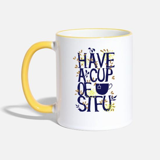 Collection Mugs & Drinkware - Have a Cup of SFTU - Take a cup - Two-Tone Mug white/yellow