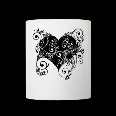 Tatoo heart - Contrasting Mug