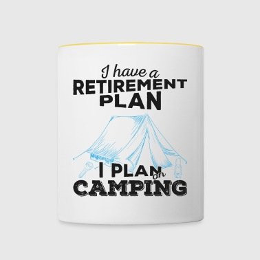 Retirement plan camping (dark) - Tasse zweifarbig