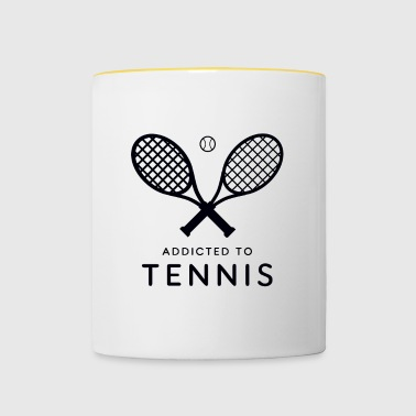 Tennis player. Addicted to tennis - Contrasting Mug