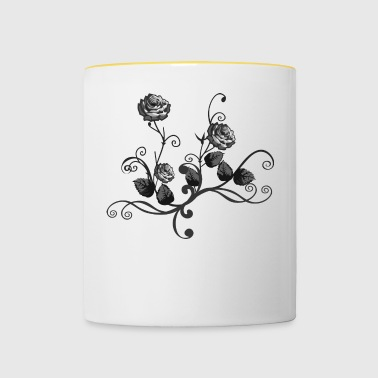 bouquet of roses - Contrasting Mug