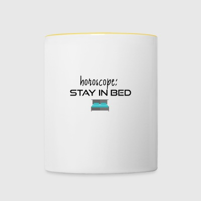 Stay in bed - Contrasting Mug