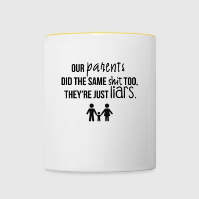 nos parents - Tasse bicolore