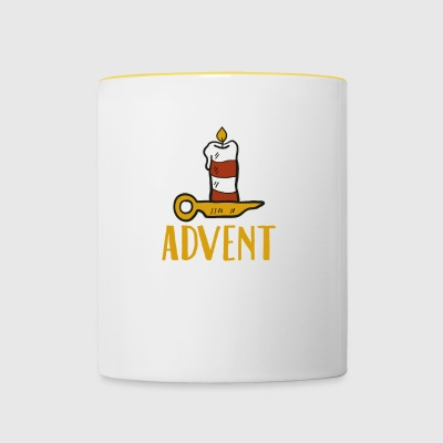 Advent One Candle Christmas Season Countdown Cool - Mok tweekleurig