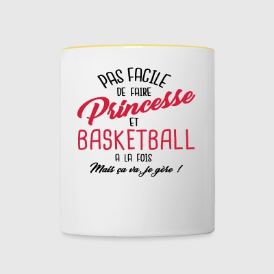 Princesse et basketball - Tasse bicolore
