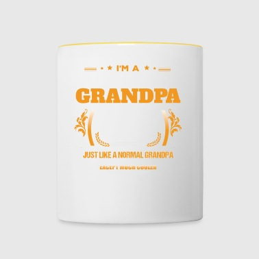 Scuba Diving Grandpa Shirt Gift Idea - Contrasting Mug