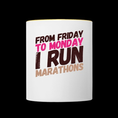 run marathons - Mok tweekleurig