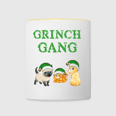 Grinch Natale Cat Gang - Tazze bicolor