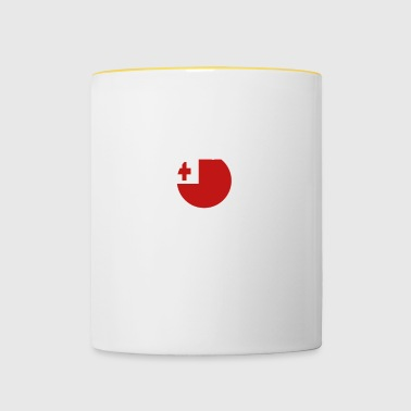 I AM GENIUS CLEVER BRILLIANT TONGA - Contrasting Mug