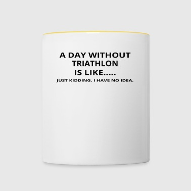 day without gift poison like love triathlon - Contrasting Mug