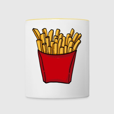 French fries fast food french fries love food - Contrasting Mug