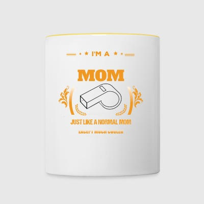 Referee Mom Shirt Gift Idea - Mok tweekleurig