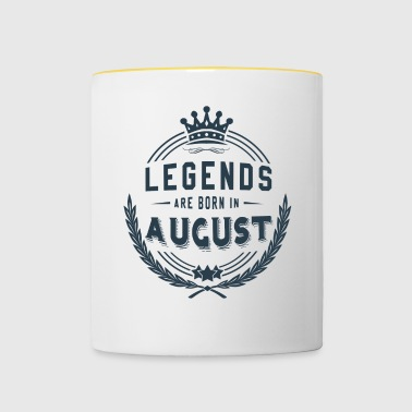 Legends Shirt - Legends are born in august - Contrasting Mug