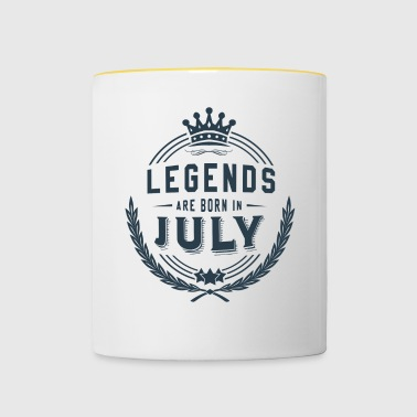 Legends Shirt - Legends are born in july - Contrasting Mug
