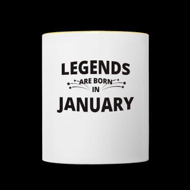 Legends Shirt - Legends are born in january - Contrasting Mug