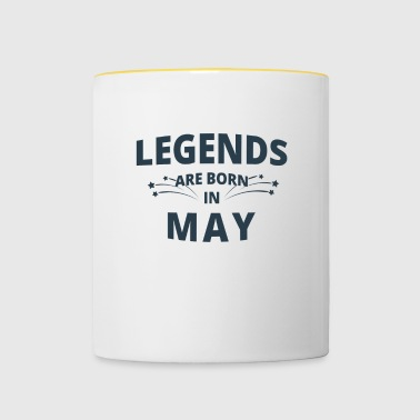 Legends Shirt - Legends are born in may - Contrasting Mug