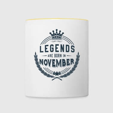 Legends Shirt - Legends are born in november - Contrasting Mug