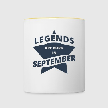Legends Shirt - Legends are born in september - Contrasting Mug