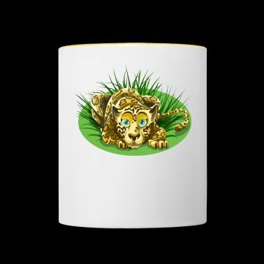 Cheetah in the grass - Contrasting Mug