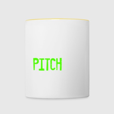 EAT SLEEP PITCH REPEAT - Tasse zweifarbig
