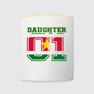 Daughter 01 daughter queen Suriname - Contrasting Mug